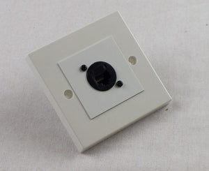 AV4-EP-RJ45W-PP Plug and Play White Network CAT5e Wall Plate