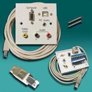 AV4-MA-1GW-VGA-USBP - VGA Wall Plate with Composite Video, Audio, USB