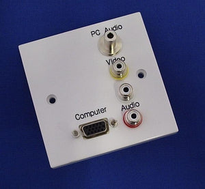 AV4-MA-1GW-VGAP - VGA Wall Plate with PC Audio, Composite Video and Audio