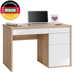 Maja Club Computer Desk in Sonoma Oak and High Gloss White (4059 2556)