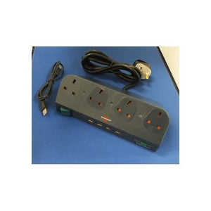 AV4-PL411299 Desktop Surge Protector with USB Hub