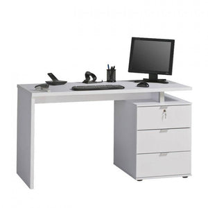 Maja Victoria Office Desk in White and High Gloss White (4056 3956)