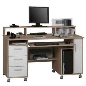 Maja Exeter Mobile Computer Desk in Sonoma Oak and White (9475 2539)