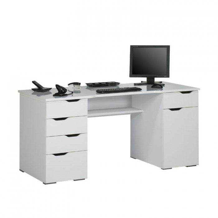Maja Marlborough Office Desk in White and High Gloss White (9539 5639)