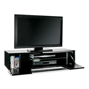 Alphason Chromium 1200mm TV Stand in Black (CRO2-1200CB-BLK)