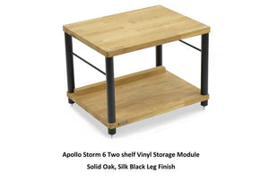 Apollo Storm 6 Solid Oak 2 Shelf Vinyl Storage Hifi Rack