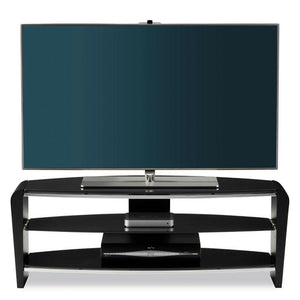 Alphason Francium Large Black TV Stand - FRN1100/3-BLK