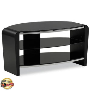 Showroom Sale - Alphason Francium Small Black TV Stand - FRN800/3-BLK