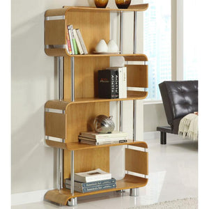 Jual Bali Curved Bookcase in Oak (BS201-OAK)