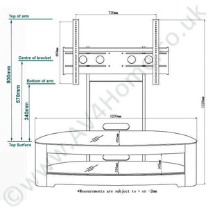 Jual Florence Curved Oak Cantilever TV Stand (JF209 OB)