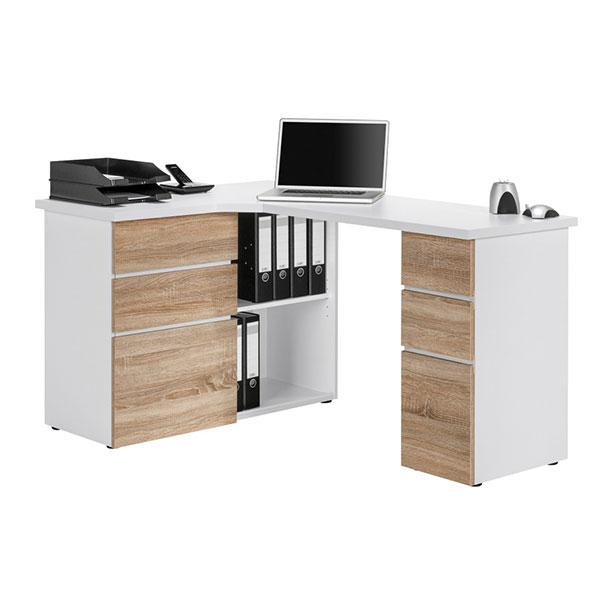 Maja Oxford Corner Desk in Sonoma Oak and White (9543 3925)