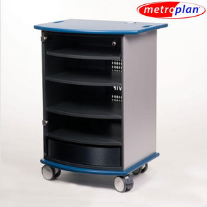 Metroplan VIP90B Mitre Multimedia Cabinet with Aqua Top and Base