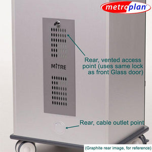 Metroplan VIP92B Mitre Presenter XL Cabinet with Aqua Top and Base