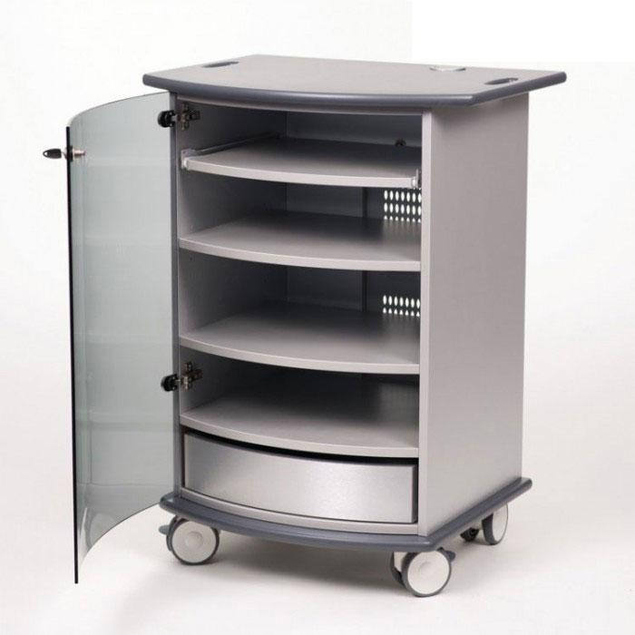 Metroplan VIP90G Mitre Multimedia Cabinet with Graphite Top and Base