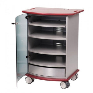Metroplan VIP90R Mitre Multimedia Cabinet with Ruby Top and Base