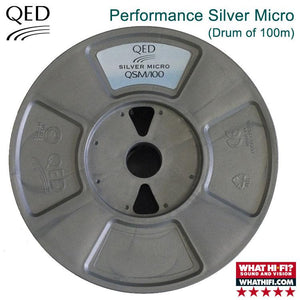 QED Performance Silver Micro Speaker Cable - Complete 100m Drum