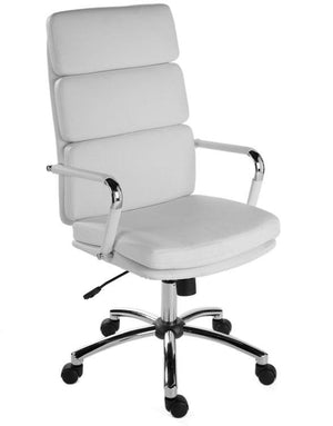 Teknik Deco White Leather Executive Chair (1097WH)