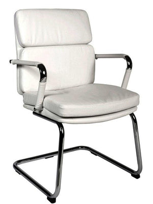 Teknik Deco White Leather Visitor Chair (1101WH)