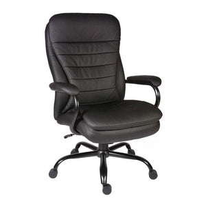 Teknik Goliath Black Leather Heavy Duty Executive Chair (B991)