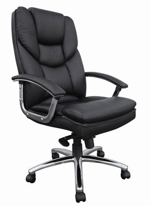 Teknik Skyline Black Italian Luxury Leather Executive Chair (9410386BLK)