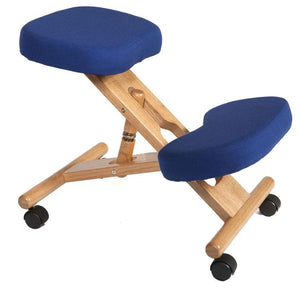 Teknik Wooden Kneeling Chair in Blue (M0001-BL)