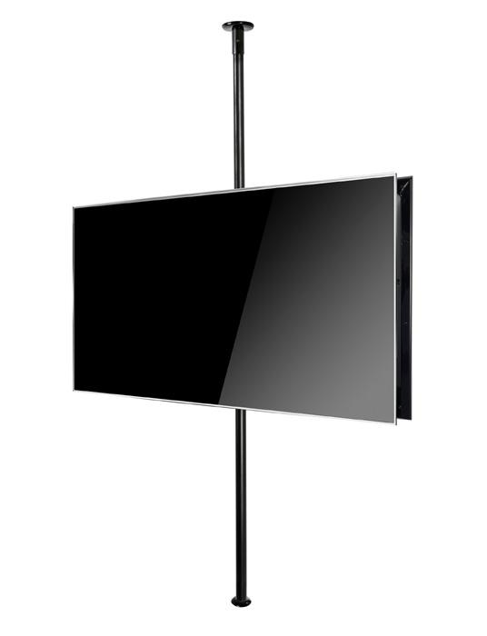 B-Tech BT3MFCLF-B2B40-65 Back to Back Twin Screen Floor to Ceiling TV Bracket with 3m Pole