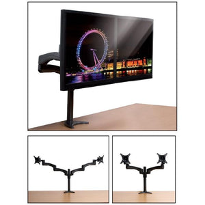 BT7374 - Twin Screen Dual Arm Flat Screen Desk Mount