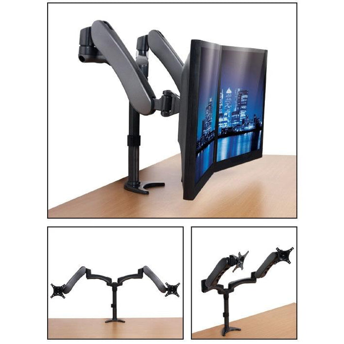 B-Tech BT7384 - Full Motion Dual Gaming Monitor Mounts