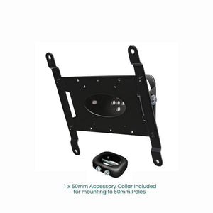 BT7523B - Black Tilting TV Wall Bracket + 1 x BT7052 Collars