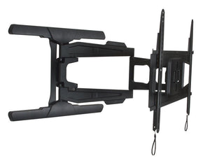B-Tech BT8221 - Black Ultra Slim Double Arm TV Wall Mount, Tilt and Swivel