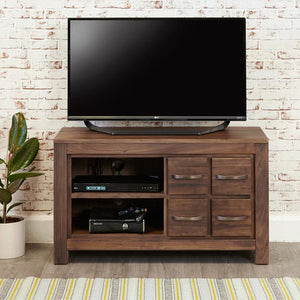 Baumhaus Mayan Walnut Four Drawer TV Cabinet (CWC09D)