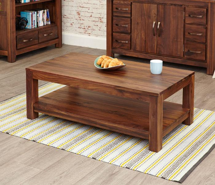 Baumhaus Mayan Walnut Open Coffee Table (CWC08C)