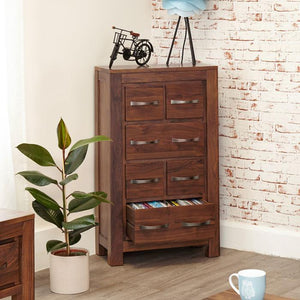 Baumhaus Mayan Walnut DVD Storage Chest (CWC17B)