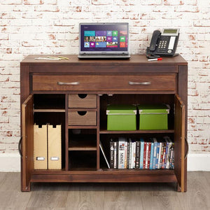 Baumhaus Mayan Walnut Hidden Home Office Desk (CWC06A)