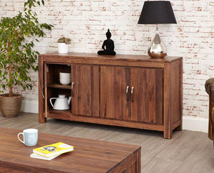 Baumhaus Mayan Walnut Large Low Sideboard (CWC02B)