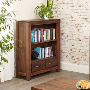 Baumhaus Mayan Walnut Low Bookcase (CWC01B)