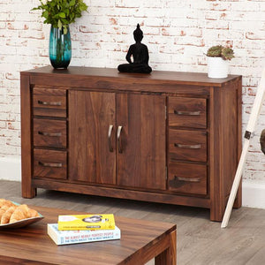 Baumhaus Mayan Walnut Six Drawer Sideboard (CWC02A)