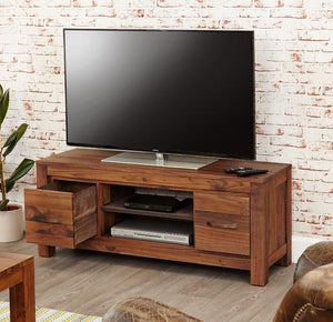 Baumhaus Mayan Walnut Widescreen Television Cabinet (CWC09A)
