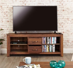 Baumhaus Mayan Walnut Widescreen Television Cabinet (CWC09B)
