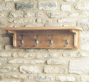 Baumhaus Mobel Oak Wall Mounted Coat Rack (COR20B)