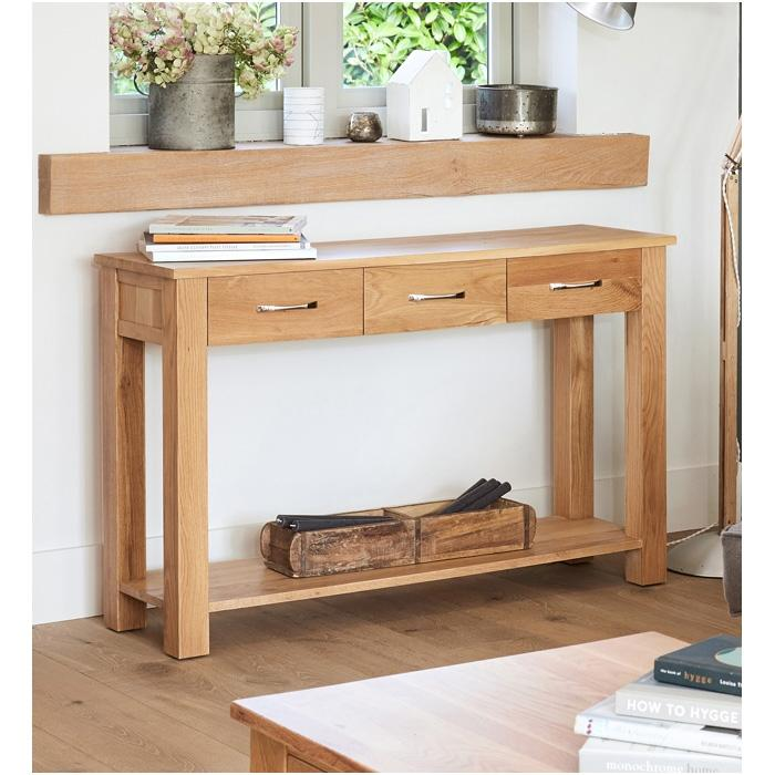 Baumhaus Mobel Oak Console Table (COR02C)