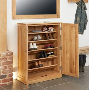 Baumhaus Mobel Oak Large Shoe Cupboard (COR20D)