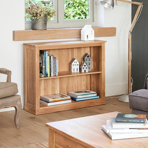 Baumhaus Mobel Oak Low Bookcase (COR01B)