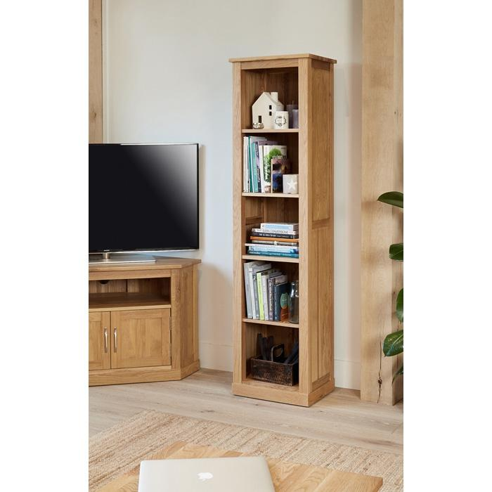 Baumhaus Mobel Oak Narrow Bookcase  (COR01D)
