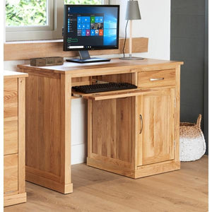 Baumhaus Mobel Oak Single Pedestal Computer Desk (COR06B)