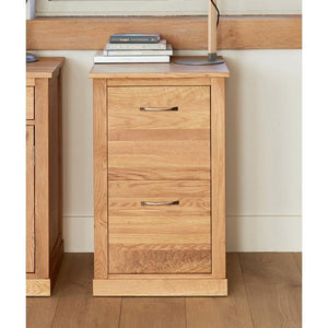 Baumhaus Mobel Oak Two Drawer Desk Pedestal (COR07A)