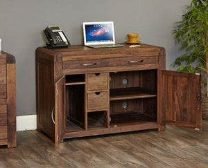 Baumhaus Shiro Walnut Hidden Home Office (CDR06A)