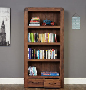 Baumhaus Shiro Walnut Large 2 Drawer Bookcase (CDR01A)