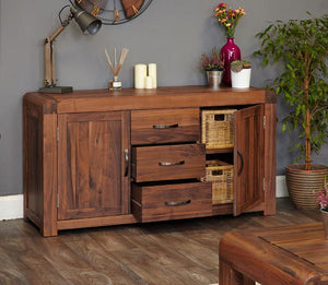 Baumhaus Shiro Walnut Large Sideboard (CDR02A)