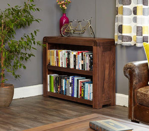 Baumhaus Shiro Walnut Low Bookcase (CDR01B)